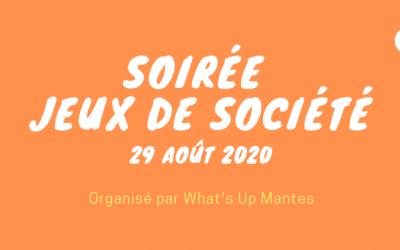 Soirée jeux de société – 29 août 2020 à Mantes-la-jolie (Le Diablotin)